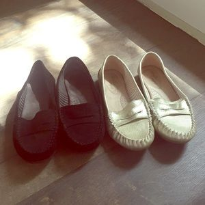 Dexflex loafers 6.5 black gold dexter comfy lot